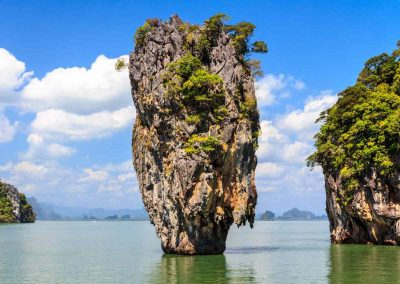 The limestone cliffs of Phang Nga Bay
