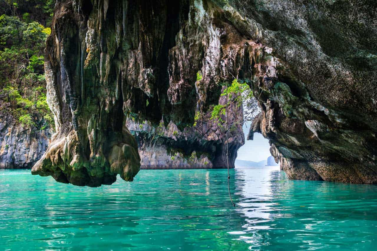AJAO CRUISES THAILAND The Limestone Cliffs Of Phang Nga Bay Cliffs And Caves