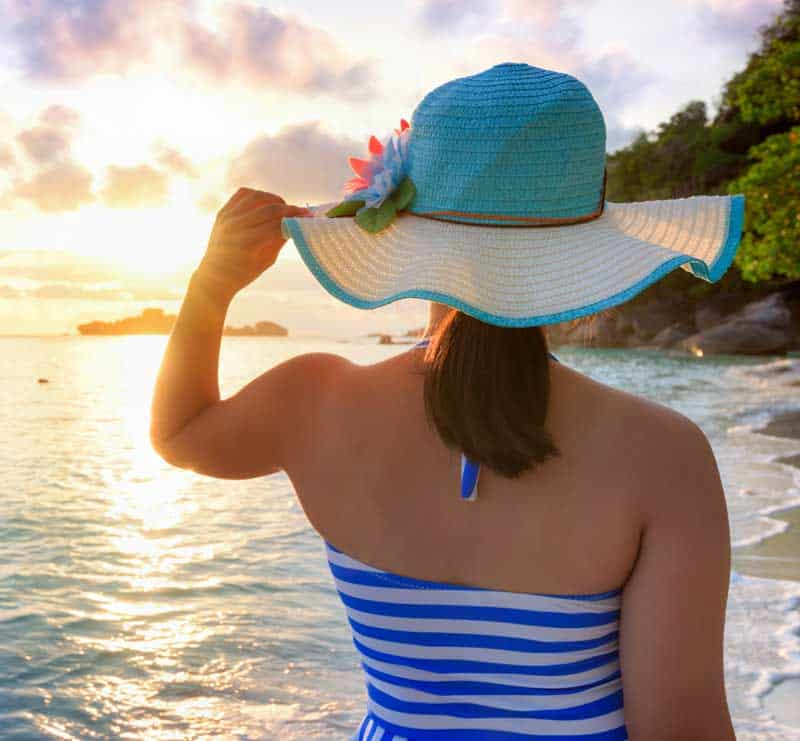 Girl On The Beach At Sunrise In Similan Island With Ajao Cruises