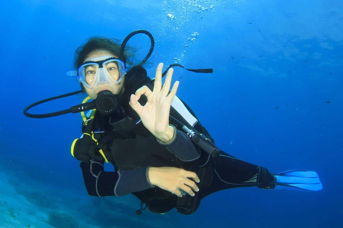 Ajao Yacht Luxury Cruises Scuba Diver Giving Ok Sign